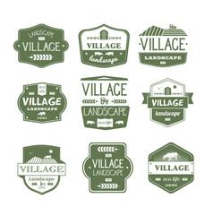 village life - vintage set of logos vector image