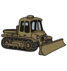 Vintage military tracked vehicle vector