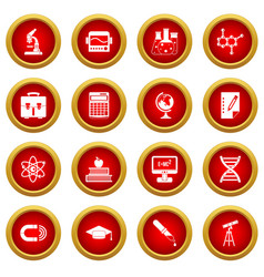 education icon red circle set vector image vector image