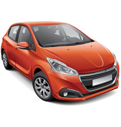 french compact hatchback vector image vector image