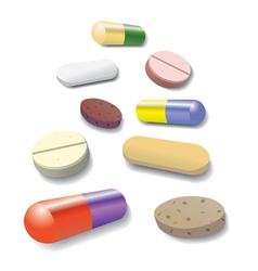 Pill collection vector image vector image