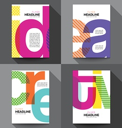 Set of Creative Brochure Flyer design template vector image vector image