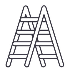 stairs line icon sign on vector image
