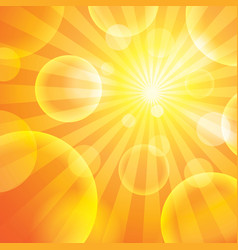 Sun light vector image