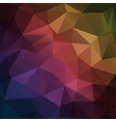 Abstract dark geometric triangle background vector image vector image