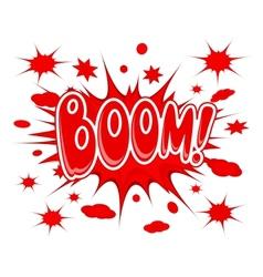 Boom explosion icon vector image
