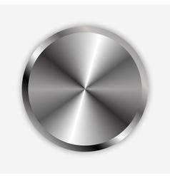 Chrome knob vector