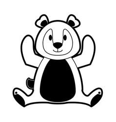 cute bear cartoon vector image