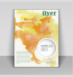 design booklet with beautiful watercolor texture vector image