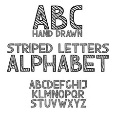 hand draw doodle abc alphabet grunge type font vector image vector image