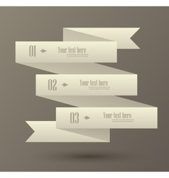 Set of numbered banner vector image vector image
