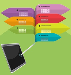 Tablet Pen Info graphic Colorful vector image