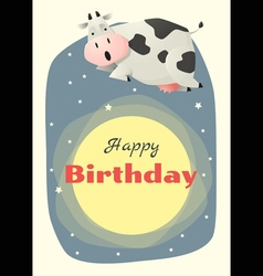 Birthday and invitation card animal background vector image