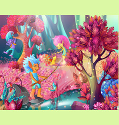 cartoon game design magic template vector image vector image
