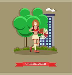 cheerleader concept in flat vector image