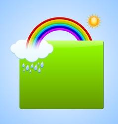 Rainbow scene plaque vector image