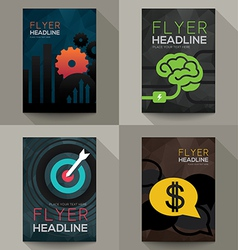 Set of Business Brochure Flyer design template vector image