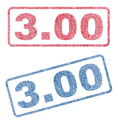 300 textile stamps vector image