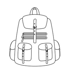 A backpack for thingstent single icon in outline vector
