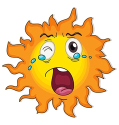A crying sun vector image