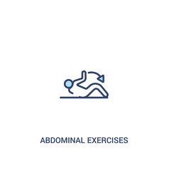 Abdominal exercises concept 2 colored icon simple vector