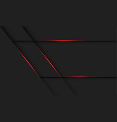 Abstract red light line shadow on dark grey vector