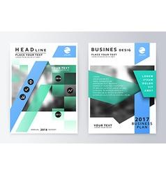 Annual report brochure Business plan flyer design vector