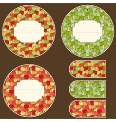 Apple Tags Design Set vector image