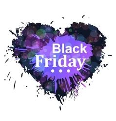 Black friday heart vector