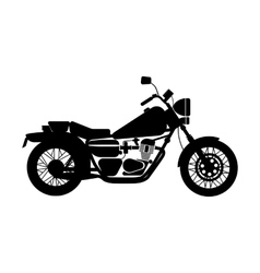 black motorcycle vector image