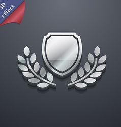 Blank award medal icon symbol 3D style Trendy vector