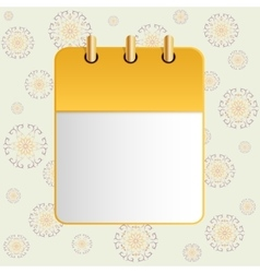 Blank sheet of calendar on the background of the vector