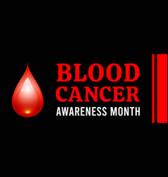 Blood cancer awareness month vector