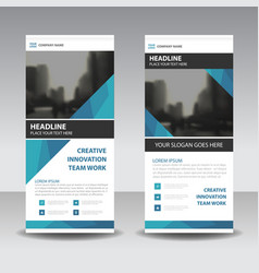 Blue elegance business roll up banner flat vector