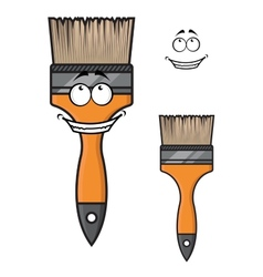 Cartoon paintbrush with a wide happy smile vector image