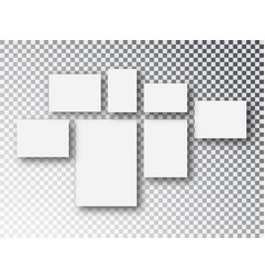 collage templates frames parts picture or vector image