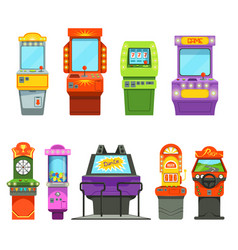 Colored of games machines vector