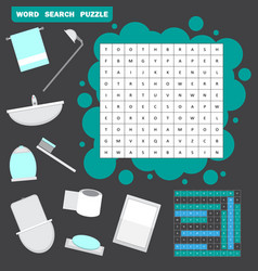 colorless crossword education game vector image