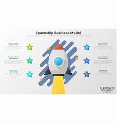 concept of spaceship business model vector image