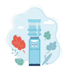 cooler with water bottle vector image
