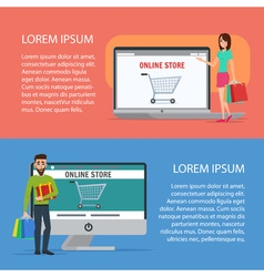 Couple Operating Their Business from Home Cartoon vector