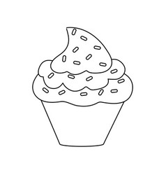 cupcake delicious dessert vector image