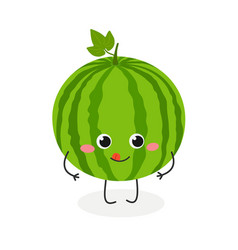 cute cartoon watermelon vector image