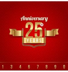 Decorative golden emblem anniversary vector