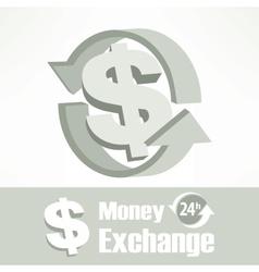 Dollar symbol in grey vector image