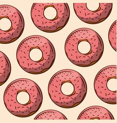 Donuts bakery design vector