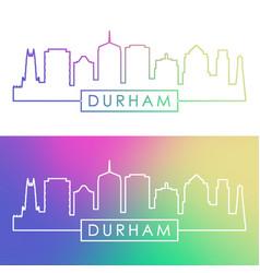 durham skyline colorful linear style editable vector image
