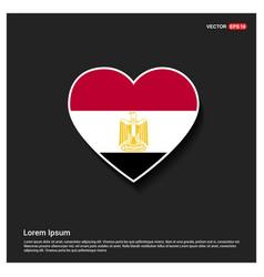 egypt flag design vector image