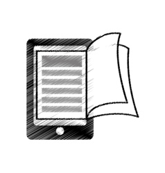 Electronic book download isolated icon vector
