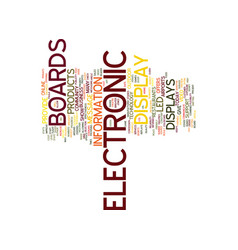 electronic display boards text background word vector image